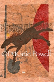 W BROWN HORSE FLYING RED BALL DKP