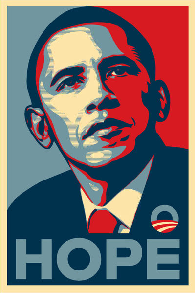 Barack Obama Poster from Wikipedia article.