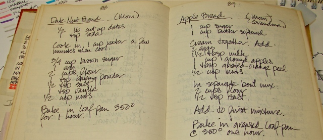 I copied recipes, when my handwriting was still legible!