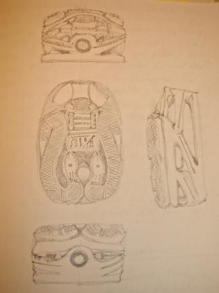 Brugh's scarab, in pencil.