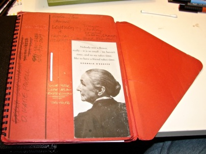 "Okina ""Cadic"" or ""OE"" notebook with flap."