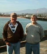 Michael and Stephen in Santa Barbara.