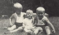 An early picture of Stephen, Michael, and Dennis, as he was known at birth.